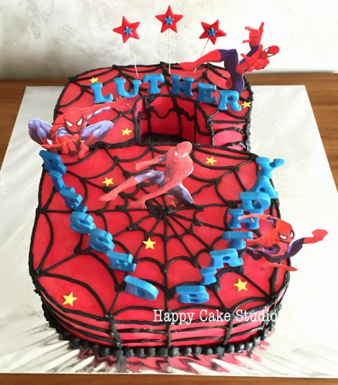 No.6 Spiderman Cake For Luther's Birthday!